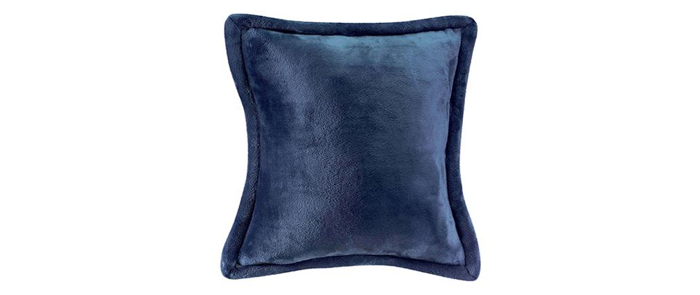 Cojín suave azul 50 x 50 cm FERO