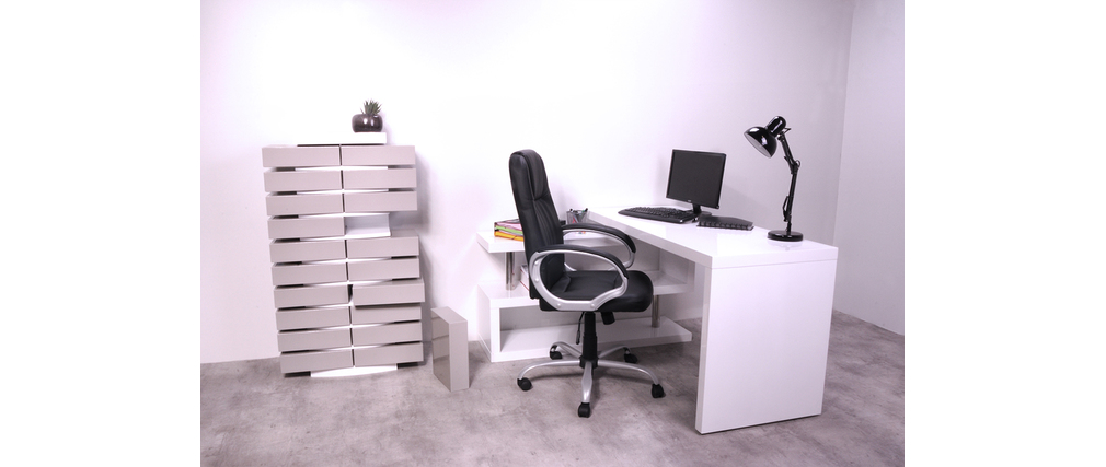 Columna de almacenaje blanca diseño