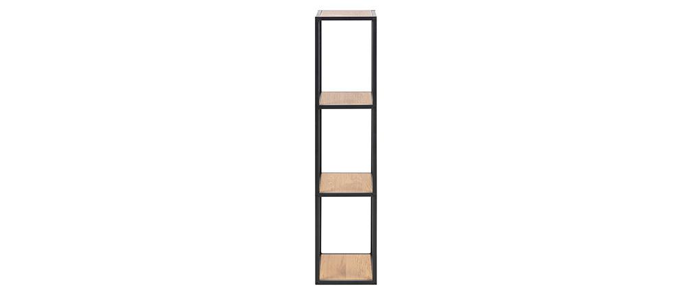 Columna de pared industrial metal y madera A108 cm TRESCA