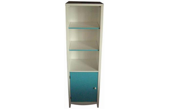 Columna mueble de cuarto de ba o tropic color azul for Muebles de bano azul