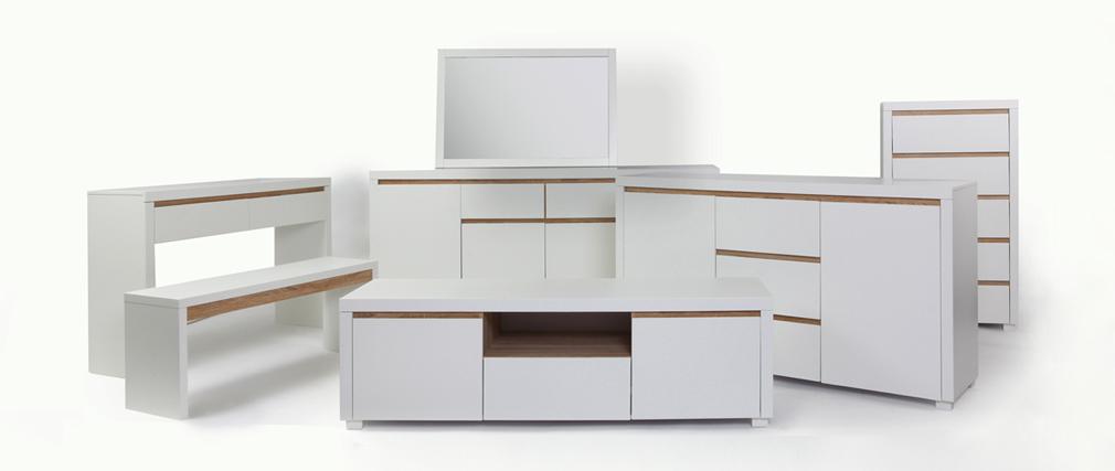 Cómoda de diseño blanco mate SIGRID