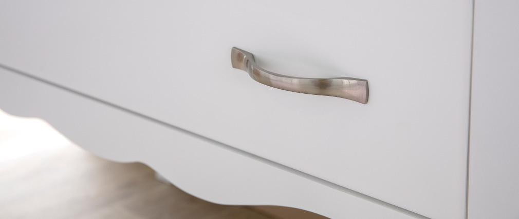 Cómoda de diseño clásico lacada blanca 2 cajones MARGOT
