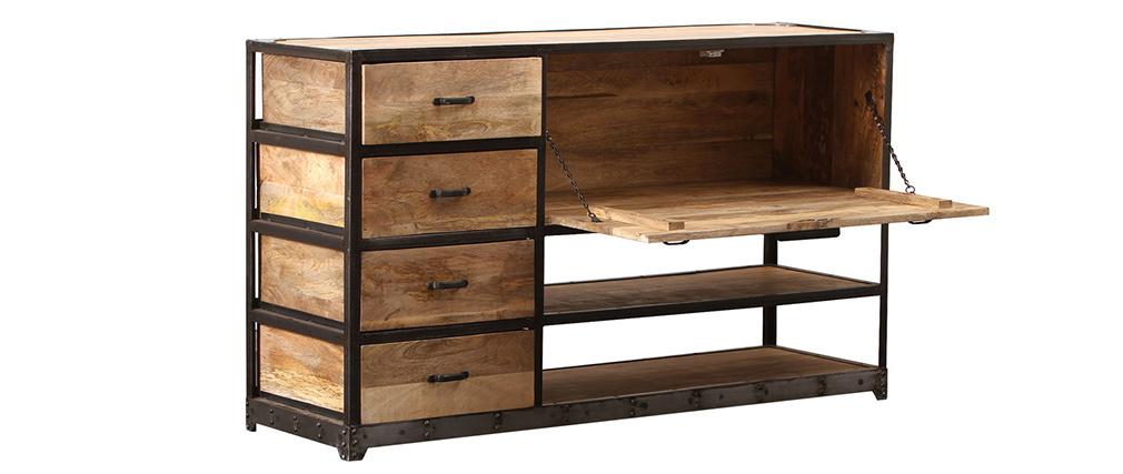 Cómoda diseño industrial madera maciza INDUSTRIA