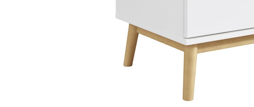 Cómoda nórdica blanca y madera 3 cajones FELIX