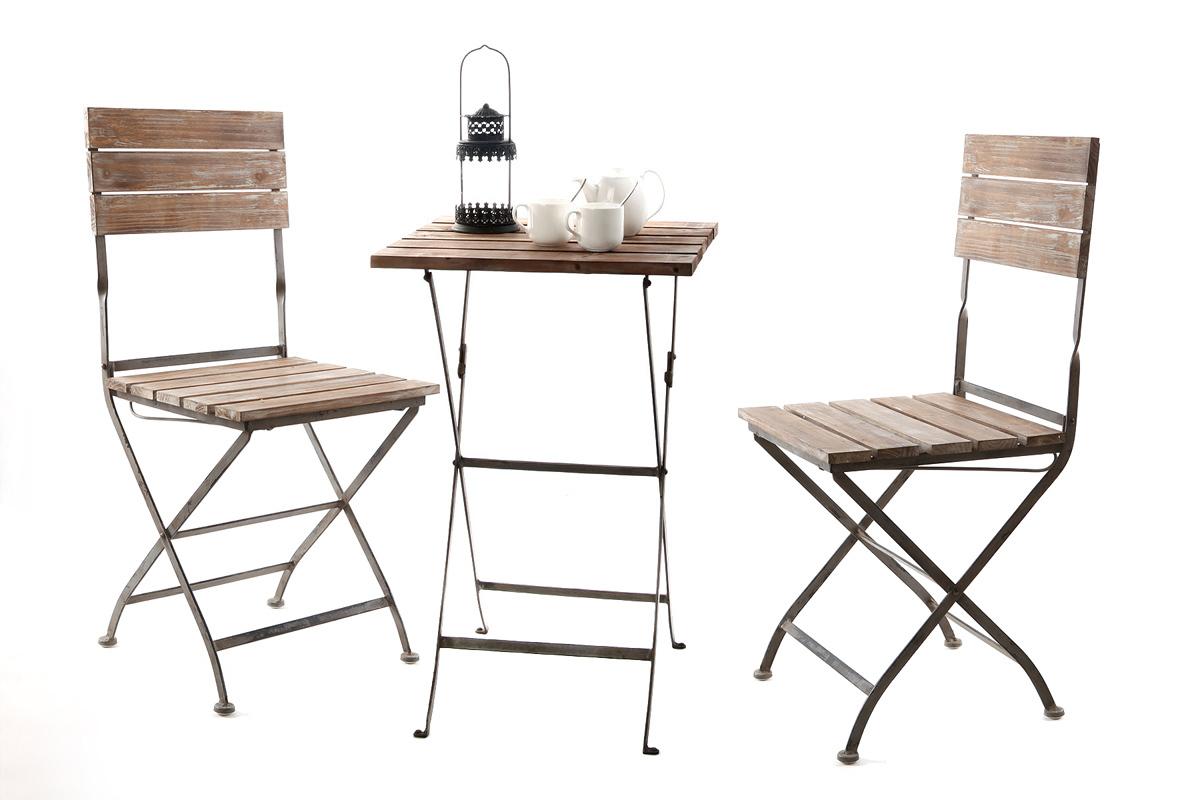Conjunto de mesa y sillas de jardin terraza willord miliboo for Ofertas mesas y sillas de jardin