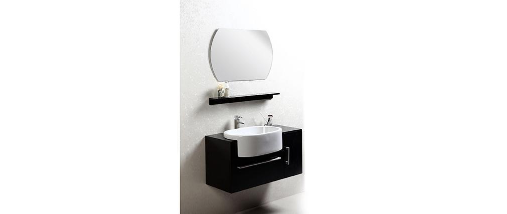 Conjunto de muebles de baño: lavabo, armario, estantería y espejo SULLIVAN