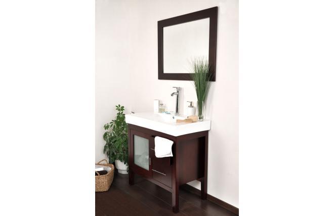 Conjunto de muebles de cuarto de ba o brisbane lavabo mueble debajo del lavabo espejo miliboo - Muebles de cuarto de bano ...