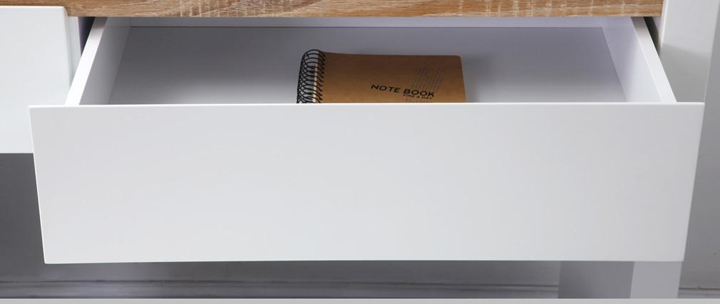Consola de diseño blanca mate SIGRID