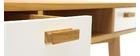 Consola diseño escandinavo blanca y roble HELIA