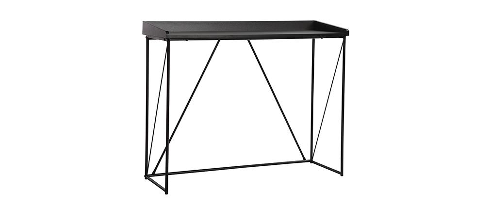 Consola diseño gris y negro L100 cm WALT