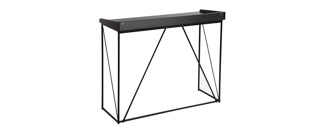 Consola diseño gris y negro WALT