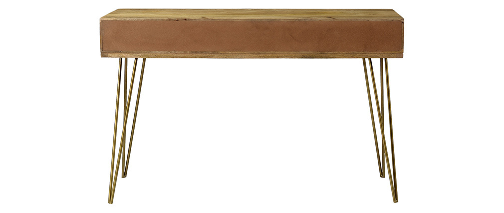 Consola en mango y metal dorado L120 cm LINIUM