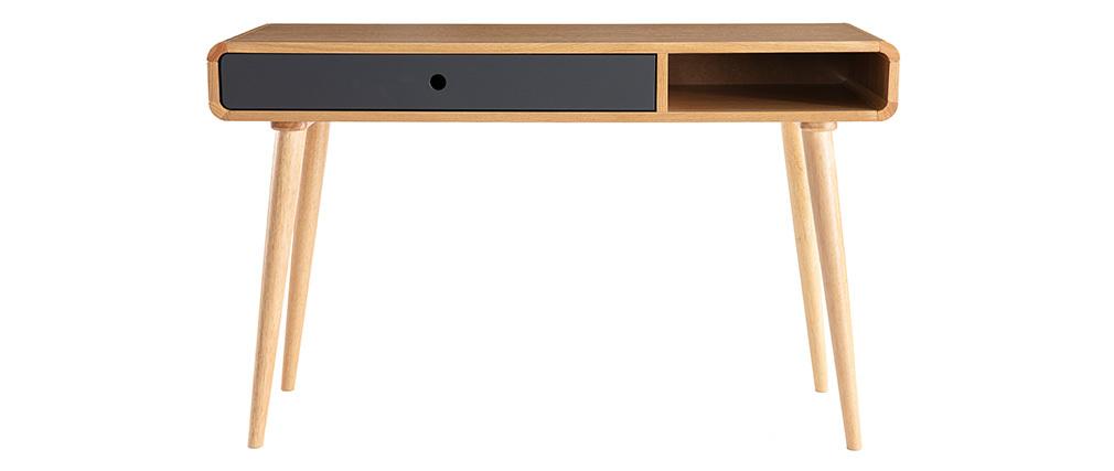 Consola-escritorio roble claro y gris L120 cm COPENHAGUE