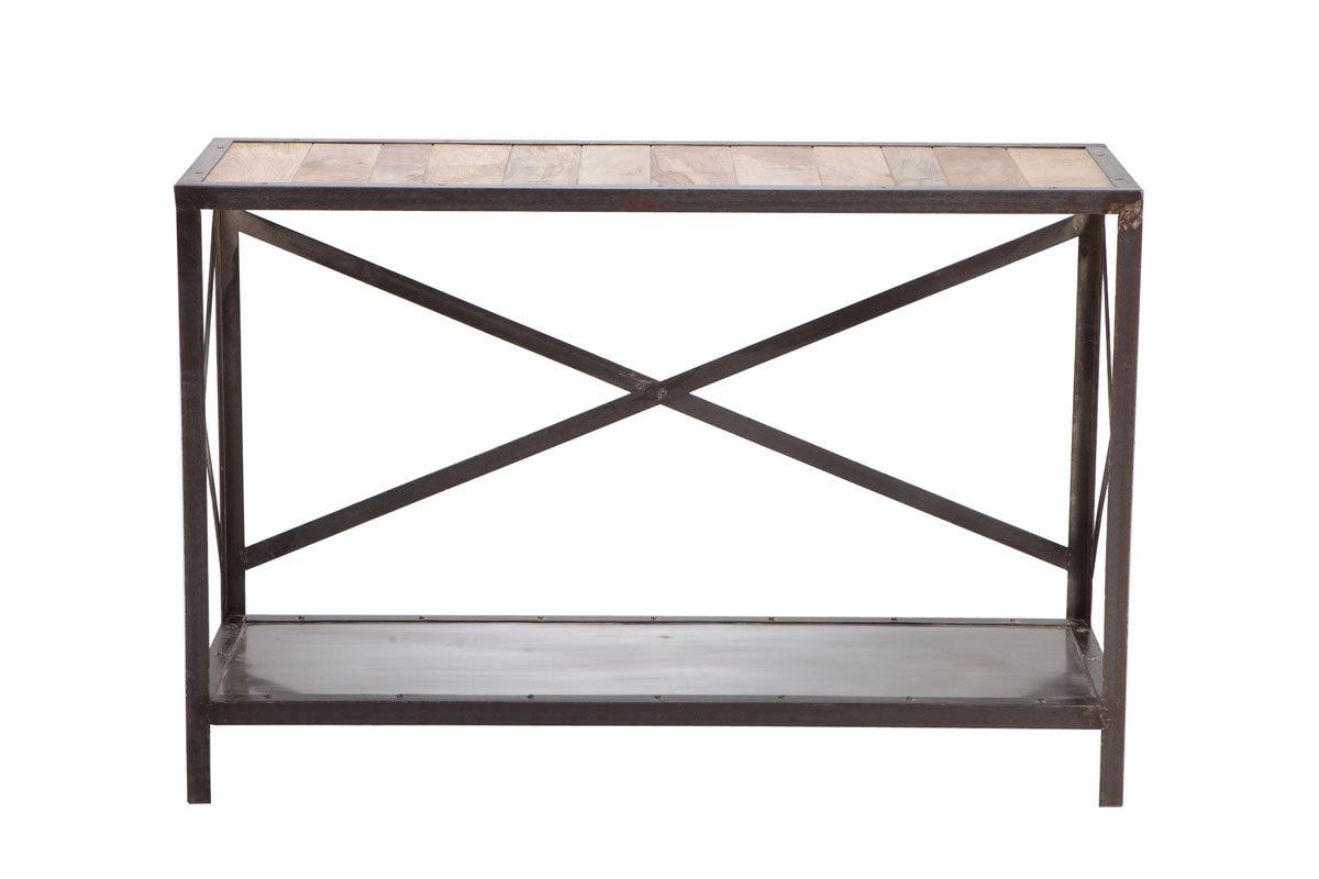 Consola estilo industrial de madera y metal atelier miliboo - Consola estilo industrial ...