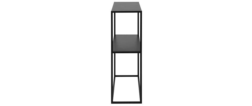 Consola industrial en metal negro L80 cm BRITA