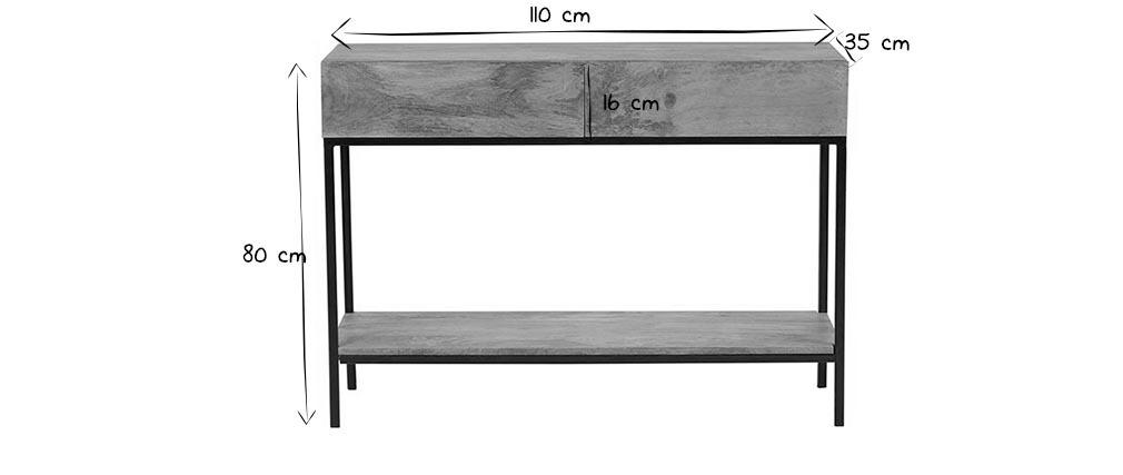 Consola industrial mango y metal 110cm YPSTER