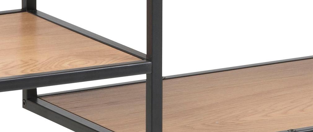 Consola industrial metal negro y madera TRESCA