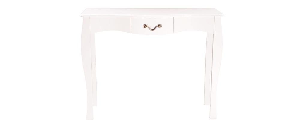 Consola LOUISA 1 cajon – 102 cm color blanco