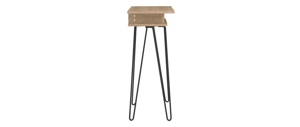 Consola madera y metal negro LUMY