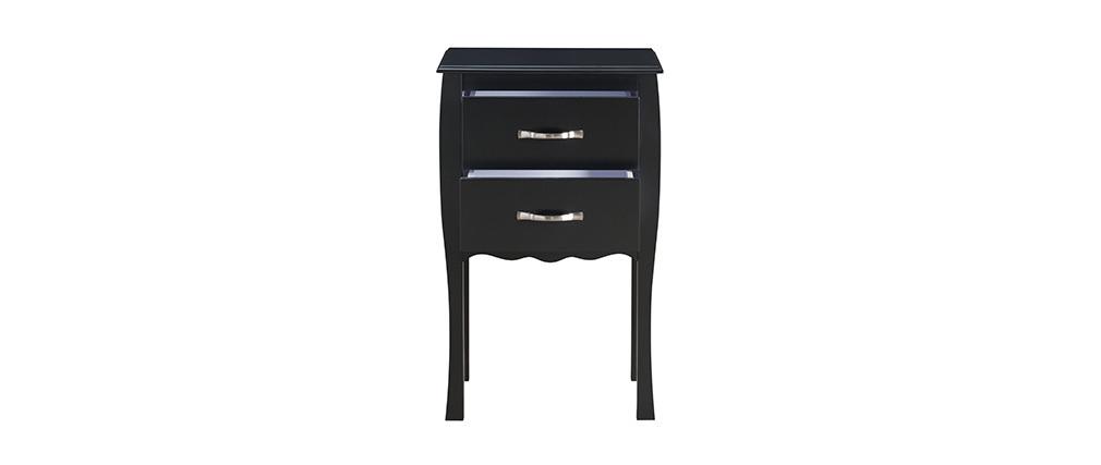 Consola / mesita de noche 2 cajones - color negro