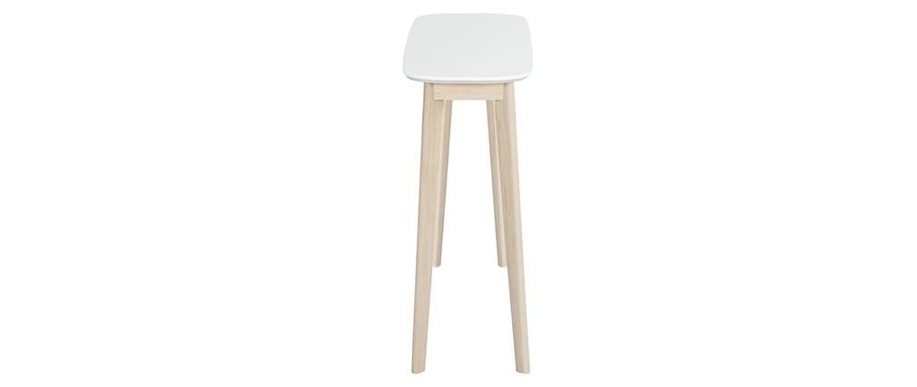 Consola nórdica blanca y madera clara LEENA