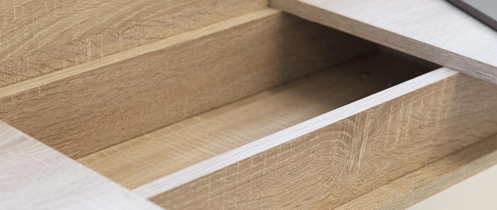 Consola nórdica madera y blanco ORIGAMI
