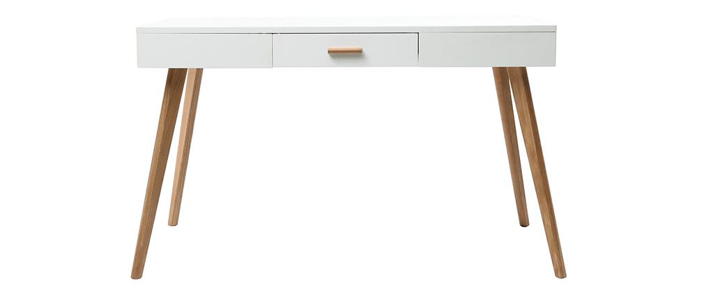Consola roble y blanco 120cm GILDA