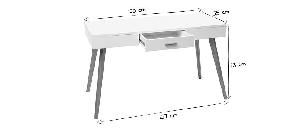 Consola roble y blanco L120 cm GILDA