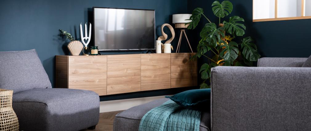 Elemento de pared cuadrado acabado madera clara ETERNEL
