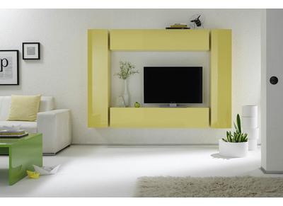 Elemento de pared TV COLORED horizontal o vertical Lacado Amarillo
