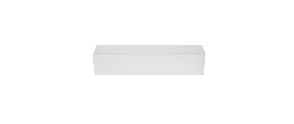 Elemento de pared TV COLORED horizontal o vertical Lacado Blanco