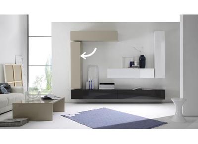 Elemento de pared TV COLORED horizontal o vertical Lacado Crema