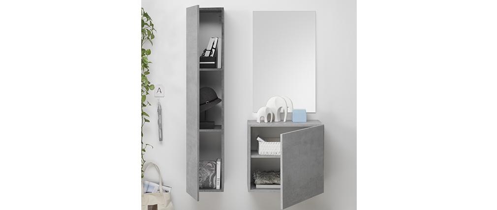 Elemento de pared TV vertical acabado cemento ETERNEL