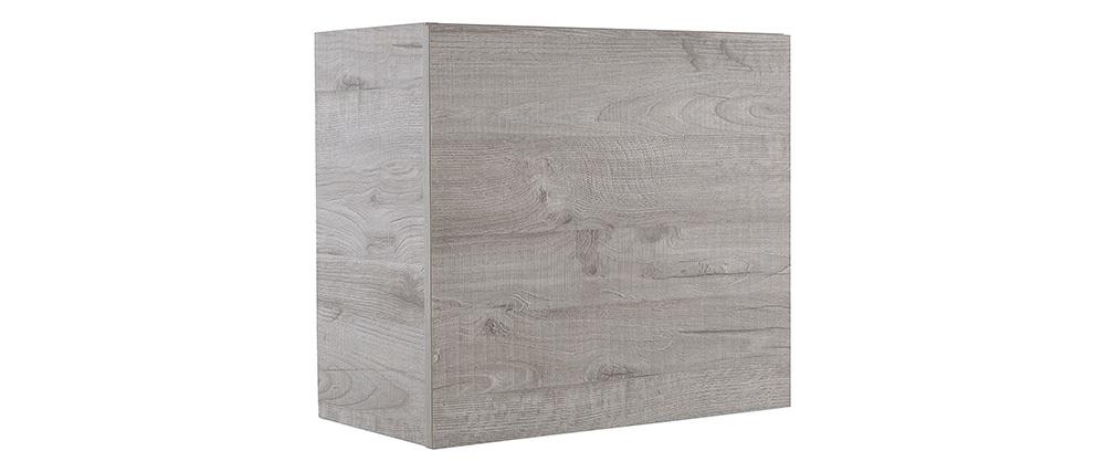 Elemento mural COLORED cuadrado madera gris