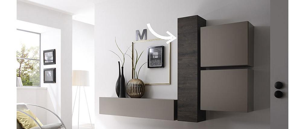 Elemento mural diseño wengé vertical COLORED V2
