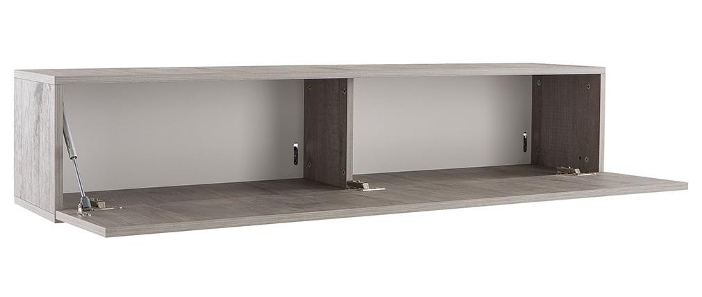 Elemento mural TV diseño madera gris horizontal COLORED V2