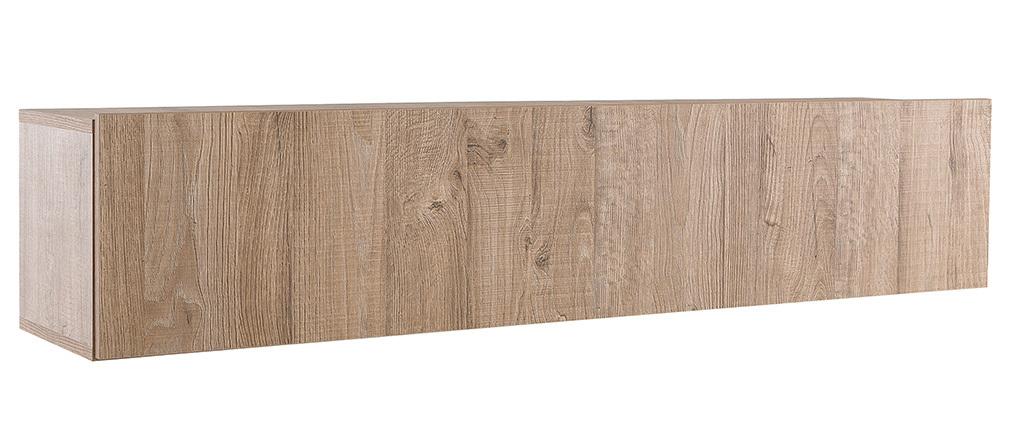 Elemento mural TV diseño madera miel horizontal COLORED V2