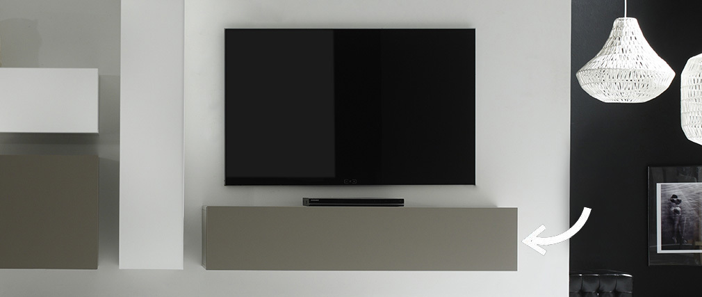 Elemento mural TV diseño topo mate horizontal COLORED V2