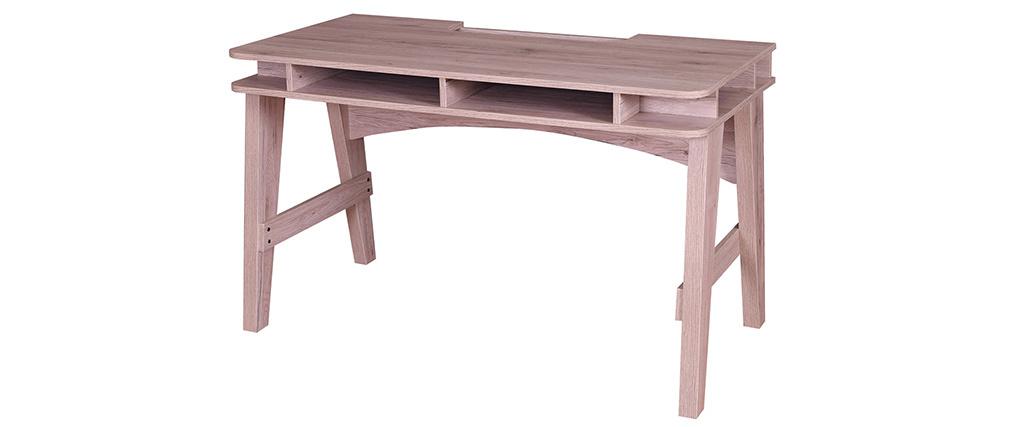 Escritorio con almacenaje decoración madera ALE