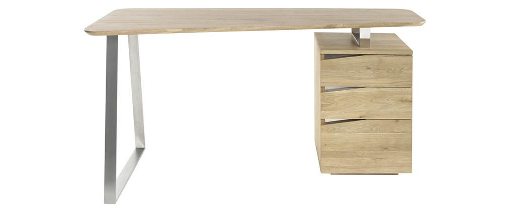 Escritorio con almacenaje metal y madera L150 JANIS