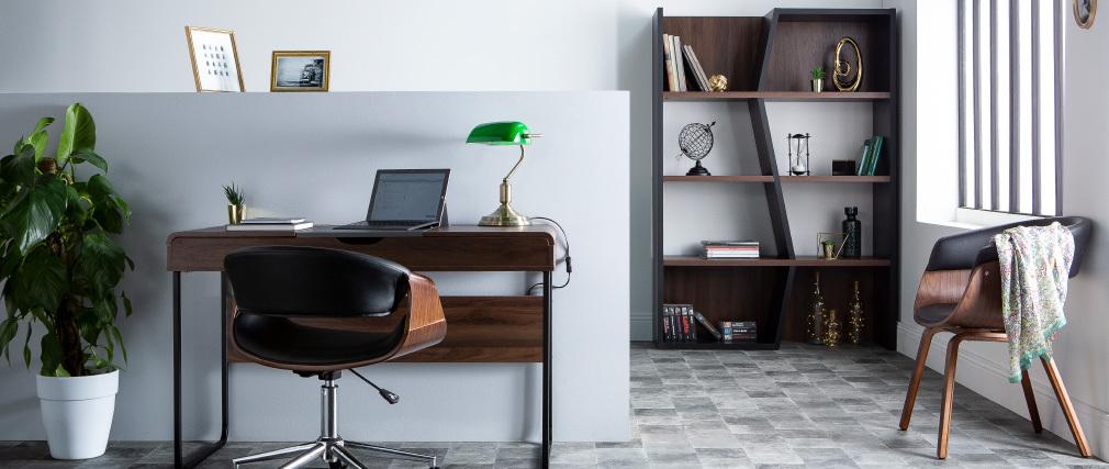 Escritorio con tablero corredero madera y gris QUINT