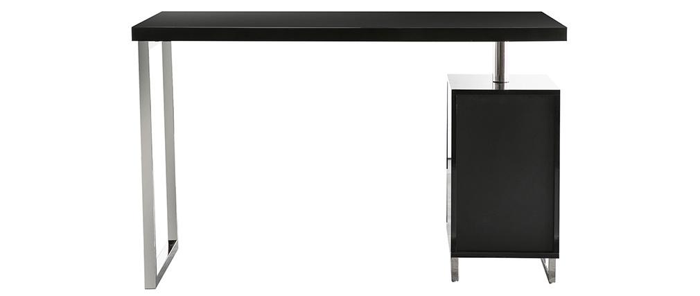 Escritorio de diseño 2 cajones lacado negro LEXI