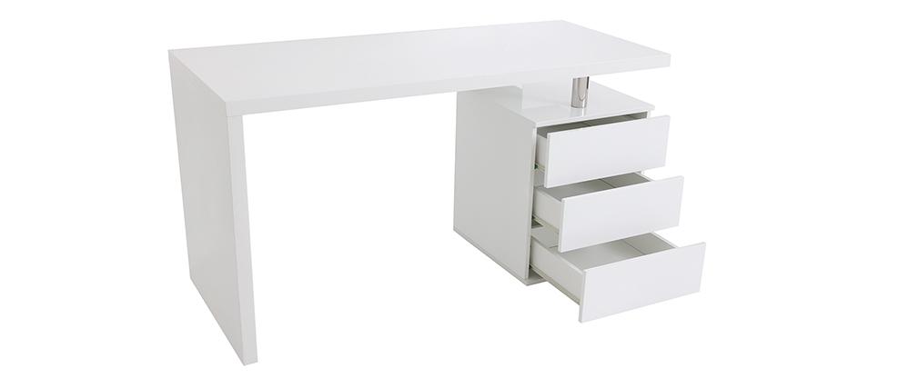 Escritorio de diseño 3 cajones lacado blanco CALIX