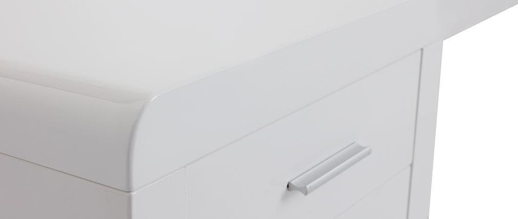 Escritorio de diseño lacado blanco ROXI