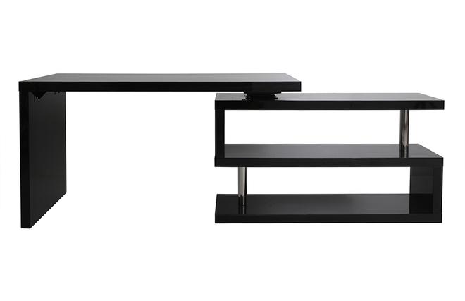 escritorio de diseno escritorio de dise o negro lacado amovible max miliboo