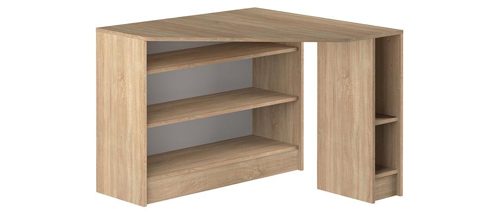 Escritorio de esquina moderno madera clara CORNER