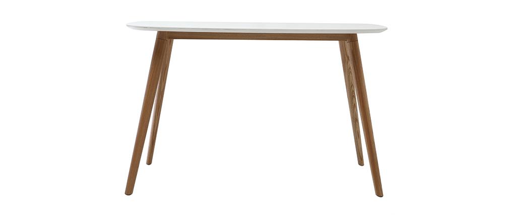 Escritorio diseño 120 cm madera y blanco SWIFT