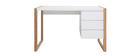 Escritorio diseño 3 cajones blanco mate ARMEL