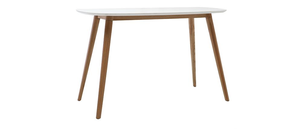 Escritorio diseño madera y blanco L120 cm SWIFT