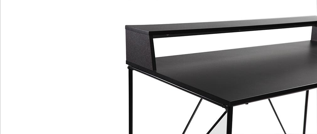 Escritorio diseño metal gris y negro WALT